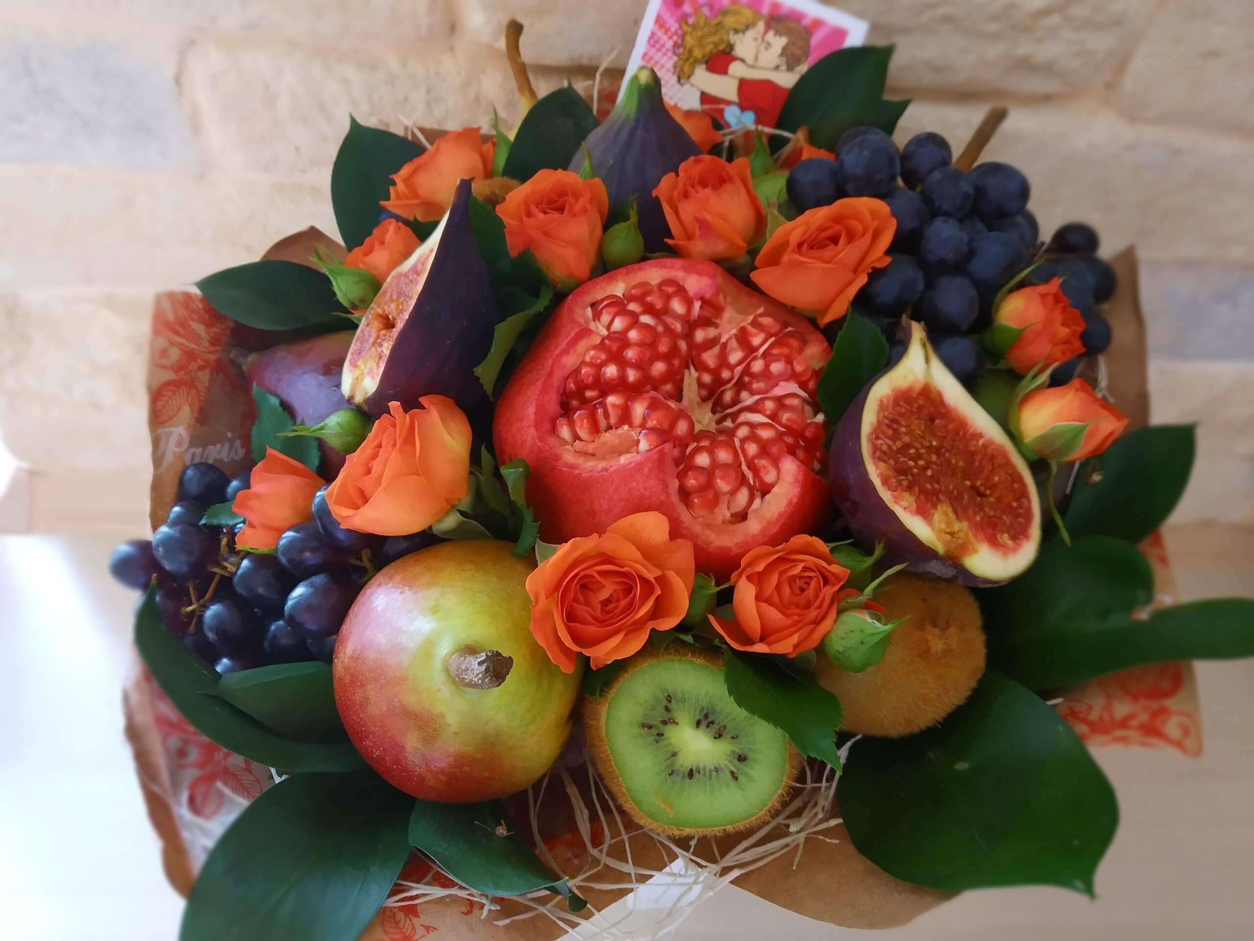 Поздравление фруктовым букетом фото 696
