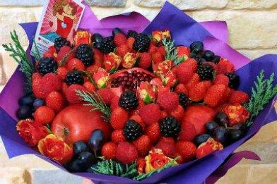 Букет из фруктов, фруктовый букет