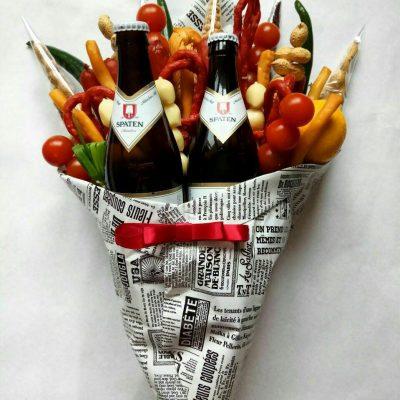 Мужской букет, Мужской букет из овощей, Мужской букет из пива, Мужской букет из мяса, Мужской букет из продуктов