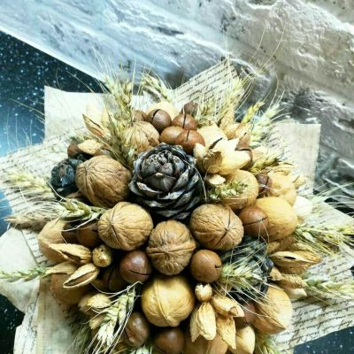 Букет из орехов, ореховый букет, букет из орехов и сухофруктов, Букет из орехов екатеринбург