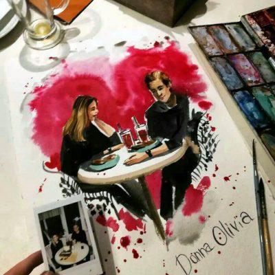 Тайный художник, Романтическое свидание